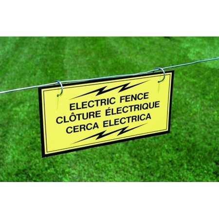 SIGN FENCE WARNING ELECTRIC