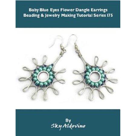 Halloween Smokey Eye Tutorial (Baby Blue Eyes Flower Dangle Earrings Beading & Jewelry Making Tutorial Series I75 -)