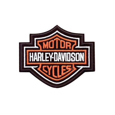 Harley Davidson Motorcycle Patches (Harley-Davidson Bar & Shield Patch Medium Orange 5-5/8'' W x 4-5/8'' H EMB302383, Harley)