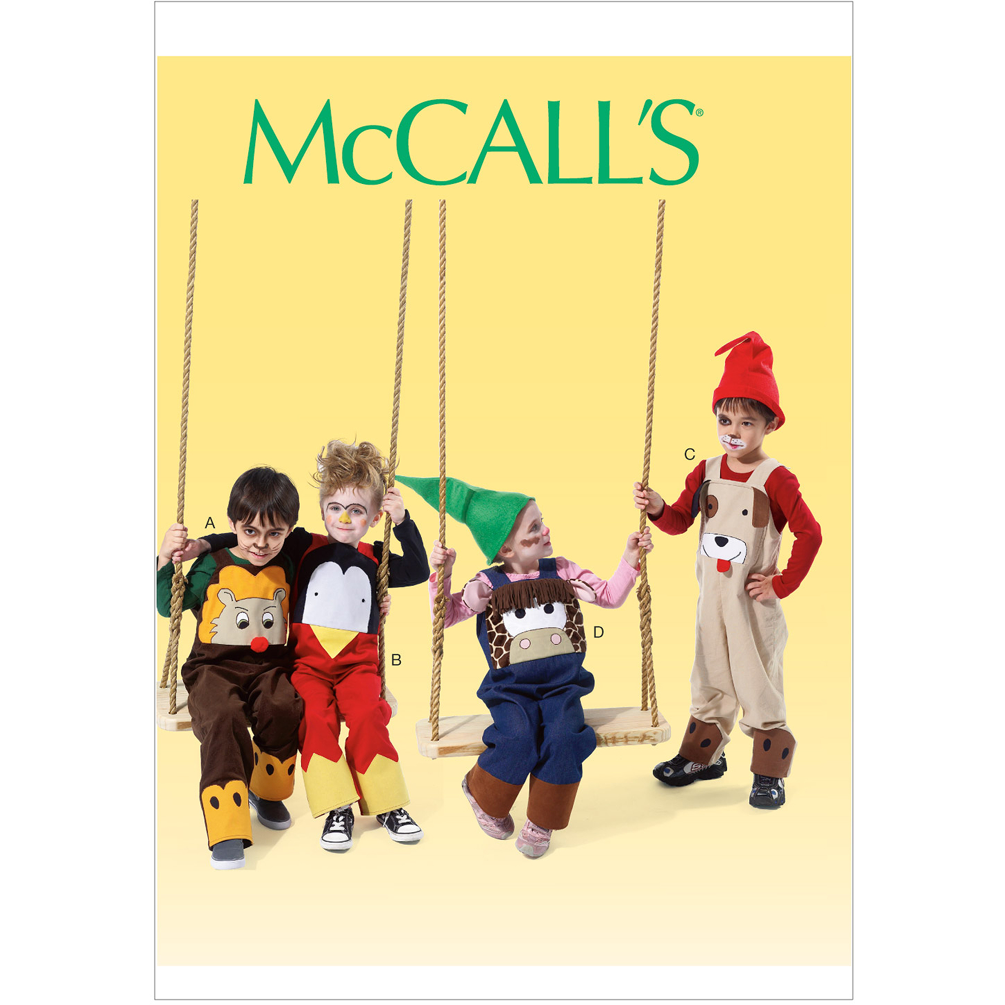 McCall's Pattern Toddlers' and Children's Overalls, CB (1, 2, 3)