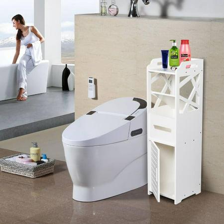 UBesGoo Bathroom Table Magazine Rack Toilet Paper Holder Storage Organizer Bath Decor