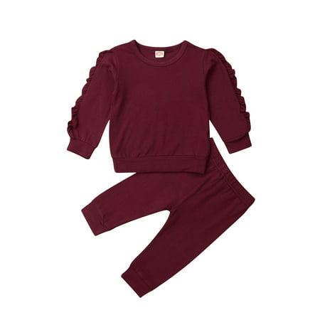 Multitrust Toddler Baby Kids Girl Clothes Top T-shirt Pants Leggings Outfits 2PCS Sets
