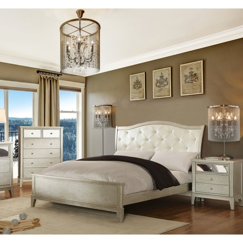 Furniture of America Malayah Contemporary Style 3-Piece Silver Bedroom Set, Multiple Sizes by Furniture of America