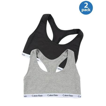 ffd642189f CALVIN KLEIN Underwear Womens Ladies Cotton Stretch Bralette Black   Grey  2-Pack
