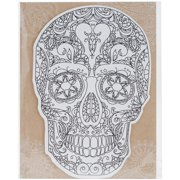Diecut Coloring Cards -Sugar Skull