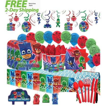 PJ Masks MEGA Deluxe Birthday Party for 16