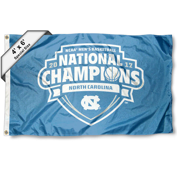 North Carolina Tar Heels 2017 Men's National Champions 4' x 6' NCAA Flag