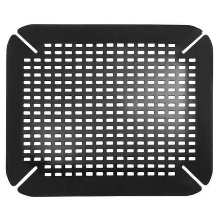 InterDesign Contour Kitchen Sink Protector Mat, Black