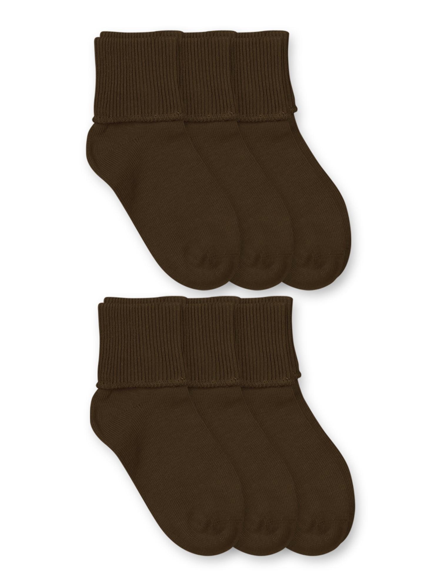 Toddler//Little Kid//Big Kid Jefferies Socks Unisex 6-Pack Organic Cotton Turn Cuff