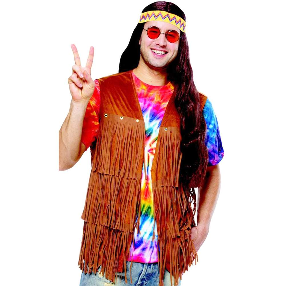 Men's Hippie Fringe Costume Vest