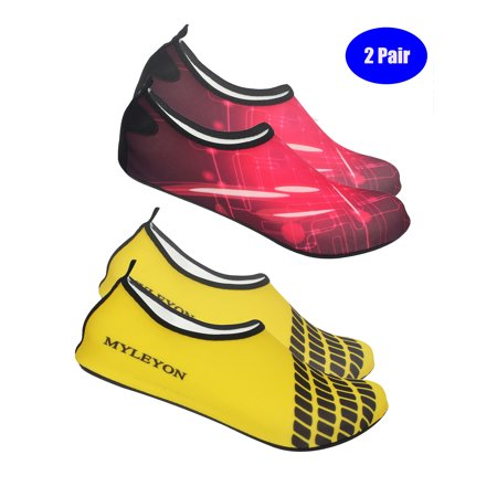 638d5ed9f01ad 2 PAIR New Water Sport Diving Swim Yoga Socks Soft Beach Shoes For Men Women  Outdoor Unisex Anti-slip Dry Aqua Quickly - Walmart.com