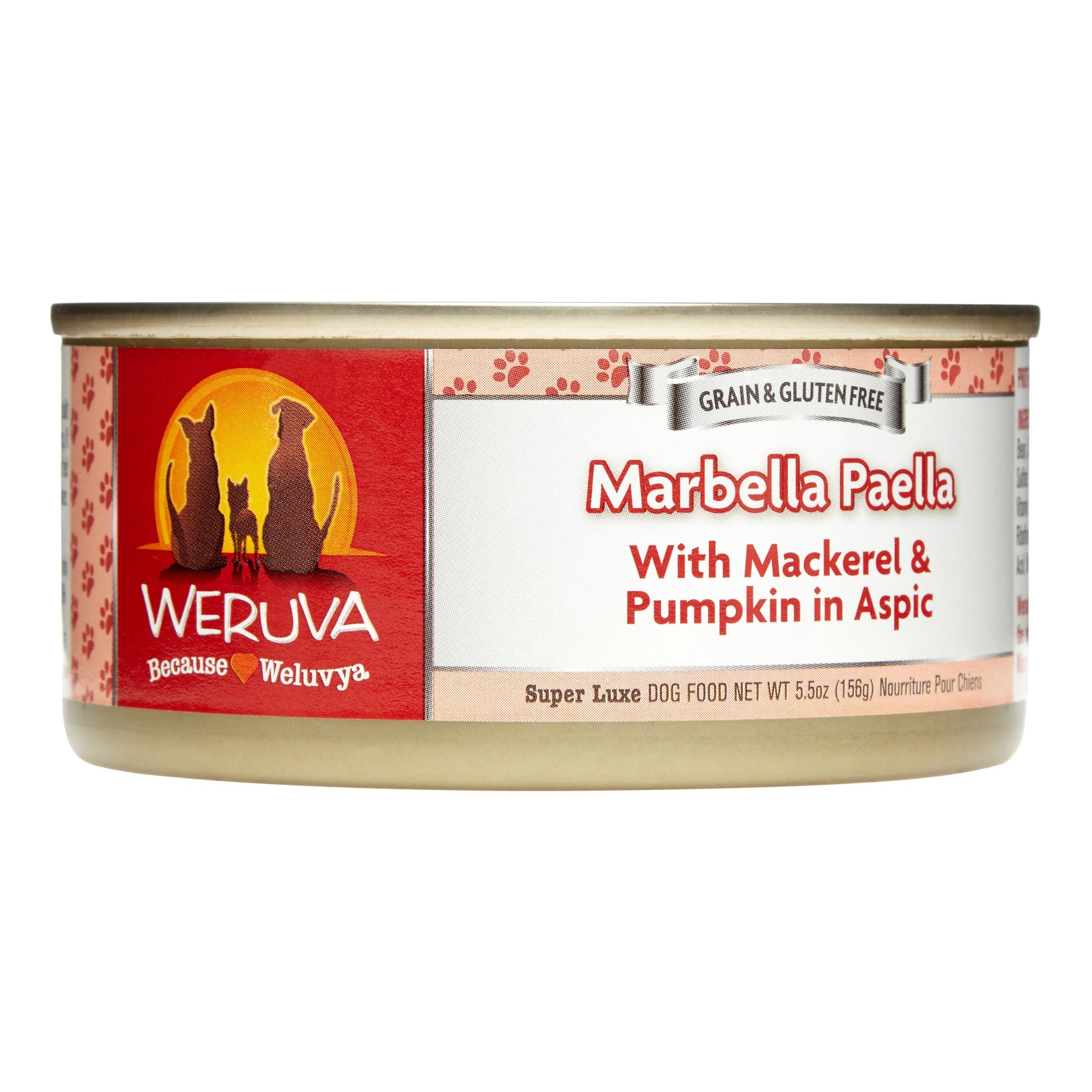 Weruva Grain-Free Marbella Paella with Mackerel & Pumpkin Wet Cat Food, 14 Oz