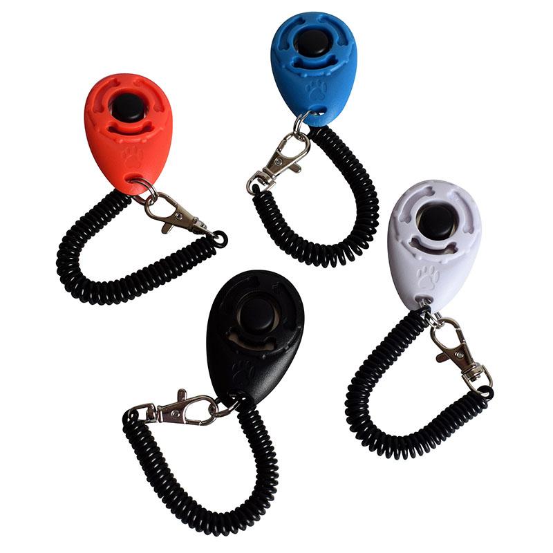 AngelCity 4Pack Pet Dog Training Clicker With Wrist Strap,Pet Big Button Training Clicker Set