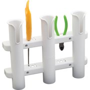 Sea-Dog 325038-1 3-Rod Storage Rack - White