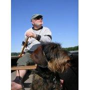Canoeing Man Friends Dog Sky Dachshund Freedom Poster Print 24 x 36 by