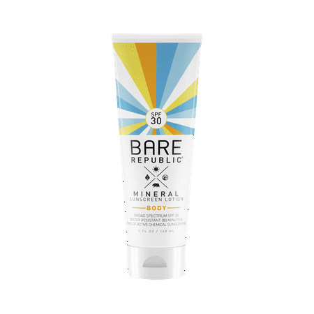 Mineral Sunblock (Bare Republic Mineral Sunscreen Lotion for Body, SPF30, 5 Oz )