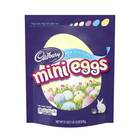 Cadbury, Mini Eggs, Easter Milk Chocolate Candy, 31 Oz.