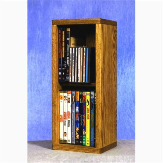 Wood Shed 215 Combo Solid Oak 2 Row Dowel CD-DVD Cabinet Tower