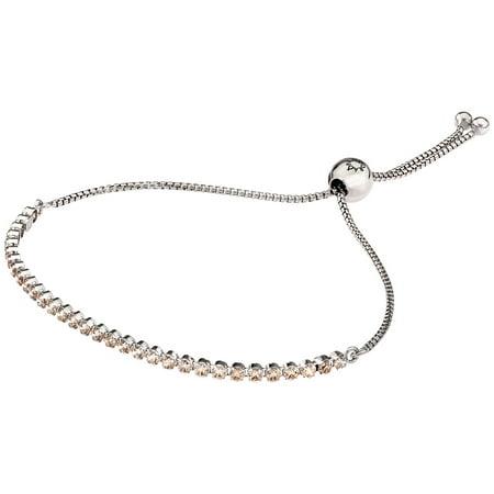 Sparkling Strand Bracelet, Golden-Colored CZ Rhodium plated s Bracelet 25 cm 590524CCZ-2