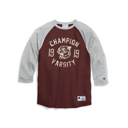 Painter Outfit (Champion Men's Heritage Baseball Slub Tee, Champion Panther - T1234)