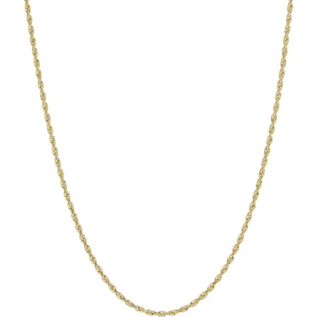 Simply Gold 10Kt Yellow Gold 1 5Mm Rope Chain Necklace  18