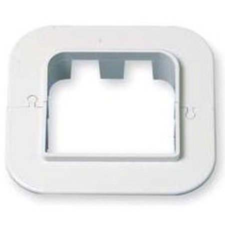 DiversiTech 230-WR4 4in SpeediChannel Wall Escutcheon for Air Conditioning Line Set Cover System