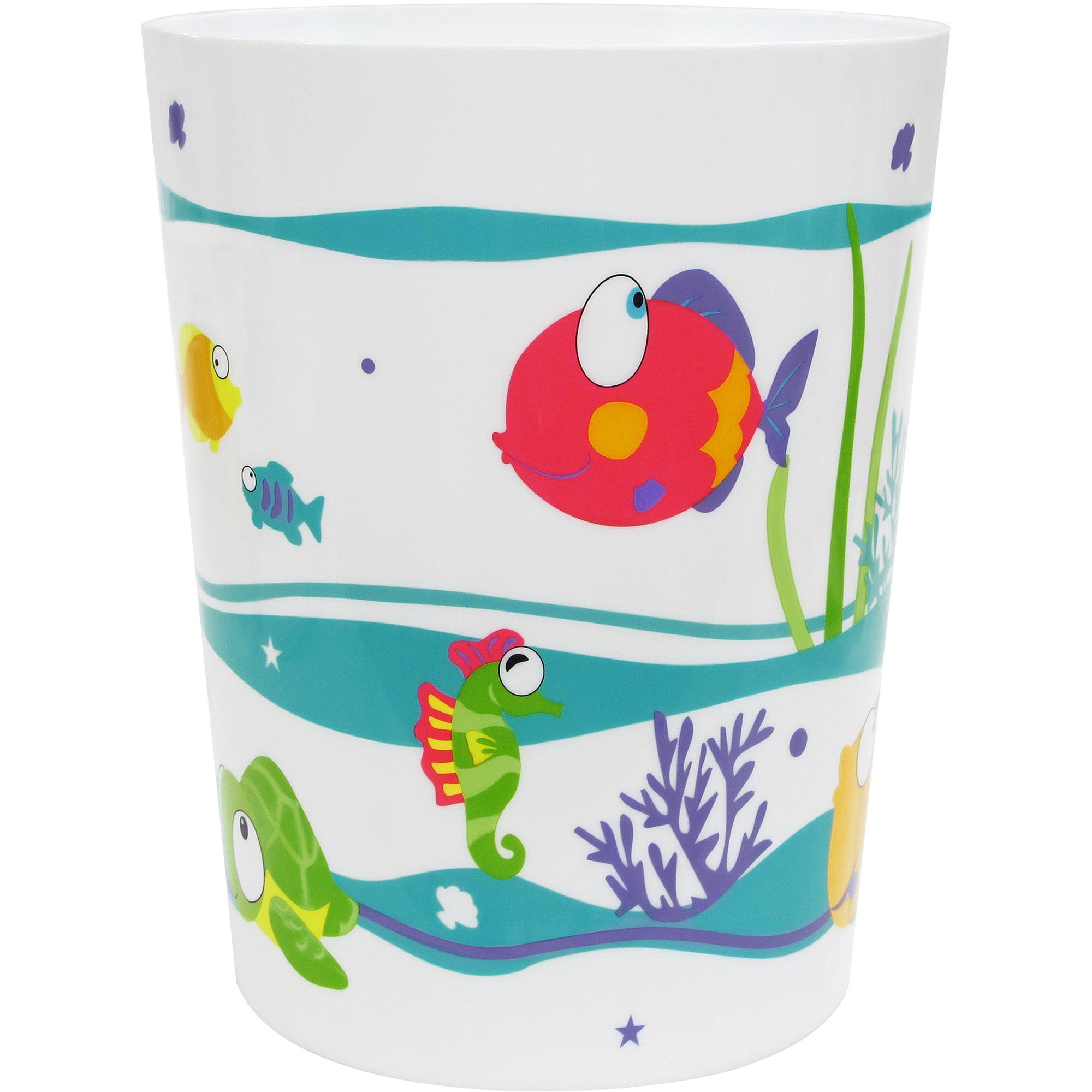 Rainbow bathroom accessories - Mainstays Something S Fishy Wastebasket