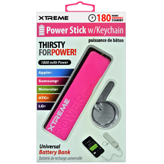 Xtreme 88803 1800mAh Universal Power Stick - Pink