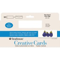"Strathmore - Creative Cards - Slim Size -3.875"" x 9"" - Palm Beach White - 10/Pkg."