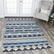 Rizzy Home RS924A Blue 5' x 8' Hand-Tufted Area Rug