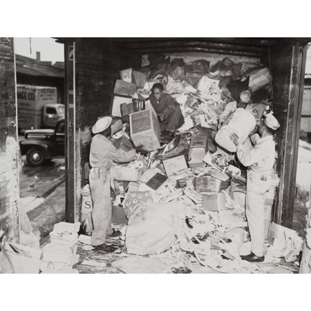 African American Soldiers Loading Trash On A Freight Car During World War 2 Many Blacks Were Assigned To Non-Combat History