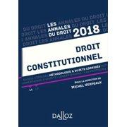 Droit constitutionnel 2018. Méthodologie & sujets corrigés - eBook