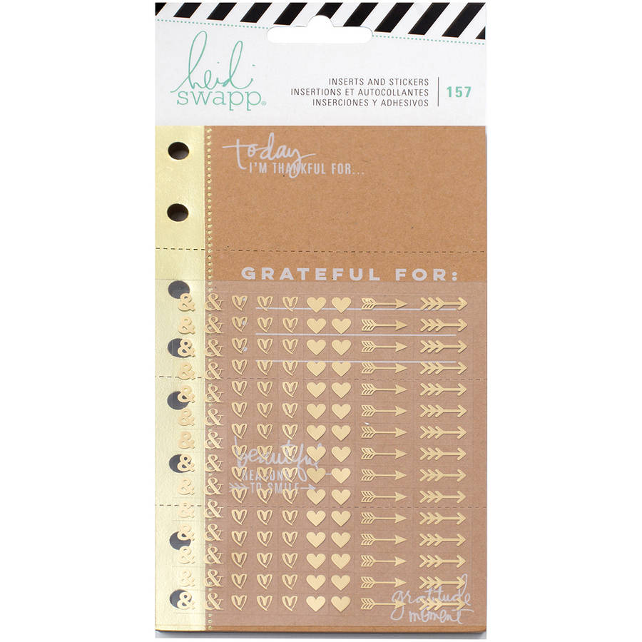 Heidi Swapp Memory Planner Inserts with Stickers