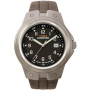 Men's Expedition Metal Tech Watch, Brown Leather Strap