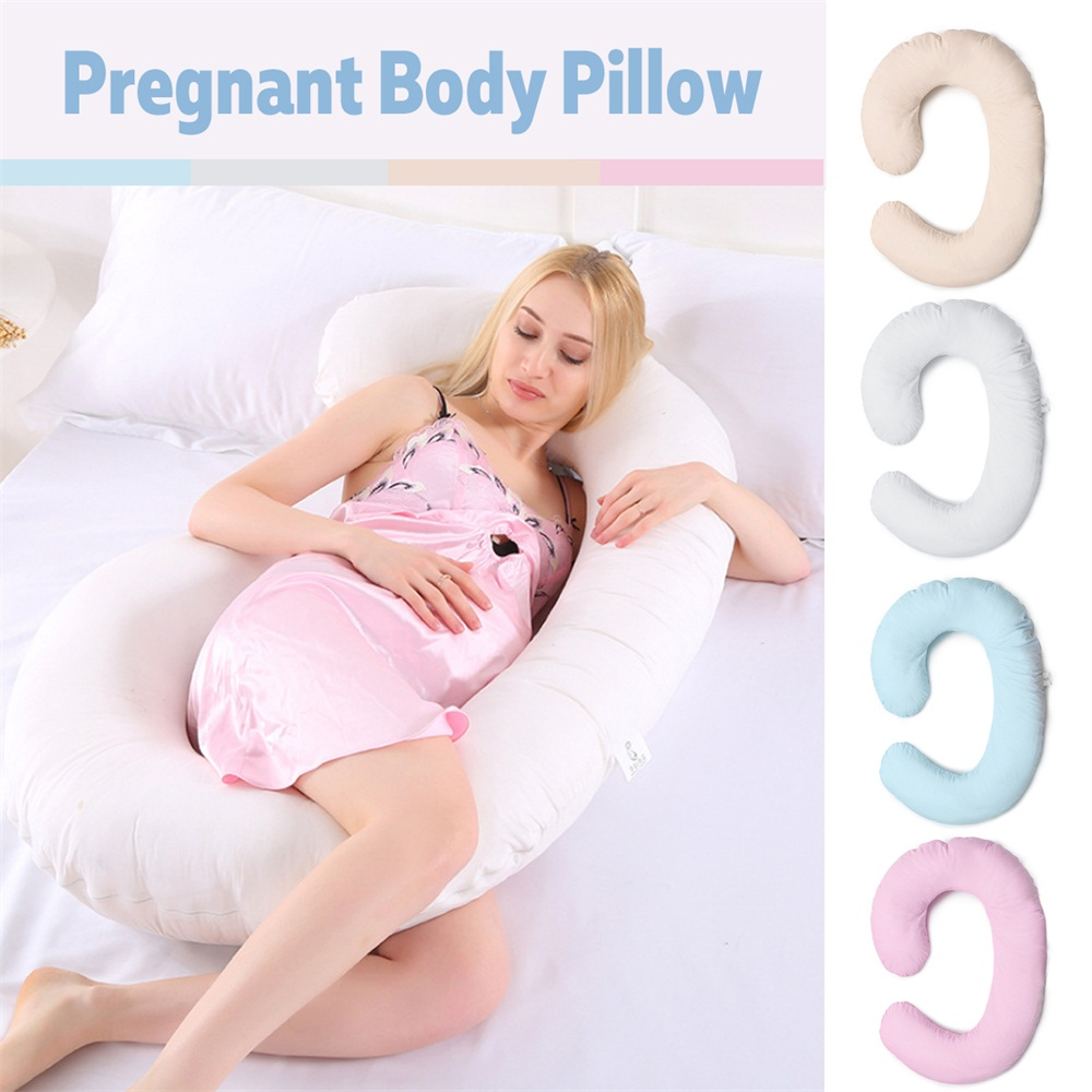 Pregnancy Pillow Full Body Soft Bed C Shape Support for Maternity Pregnant Mommy