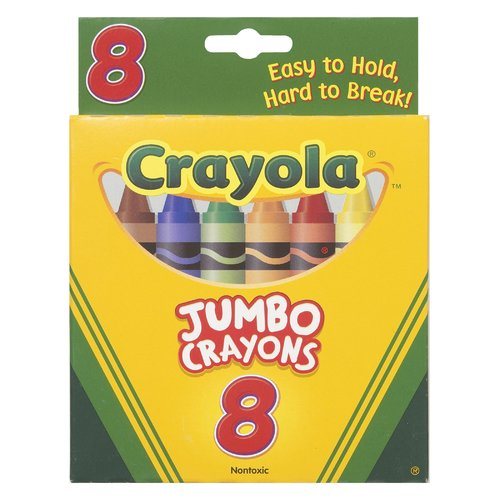 Crayola LLC Crayons Jumbo 8ct Peggable Tuck Box