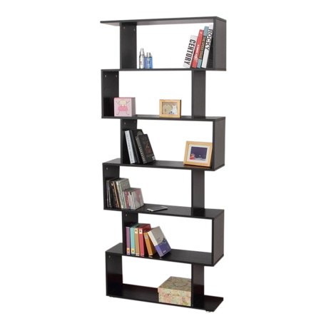 Walfront Mainstays Home 6-Tier Corner Bookshelf Solid Wood Bookshelves Bookcase Storage Shelves Storage Cube Closet Organizer Shelf Rack,