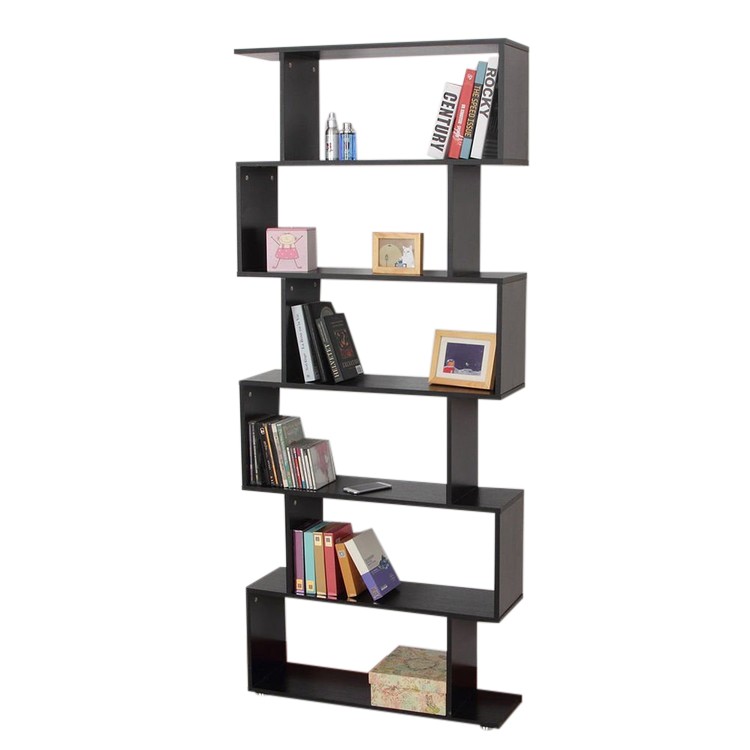 Walfront Mainstays Home 6 Tier Corner Bookshelf Solid Wood Bookshelves  Bookcase Storage Shelves Storage Cube