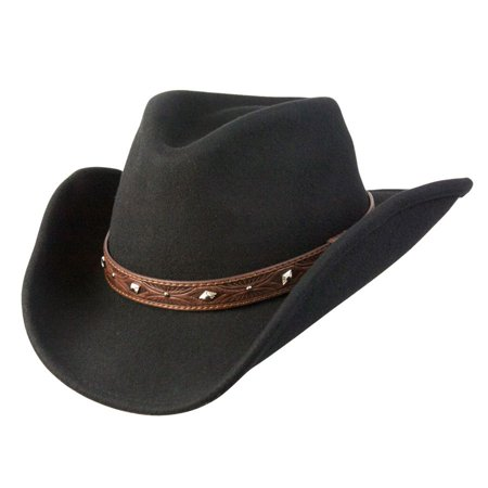 4d75f2fb321 Conner Hats - Conner Hats Men s Dakota Shapeable Western Wool Hat Black M -  Walmart.com