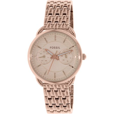 Fossil Womens Tailor Es3713 Rose Gold Stainless Steel Quartz Watch