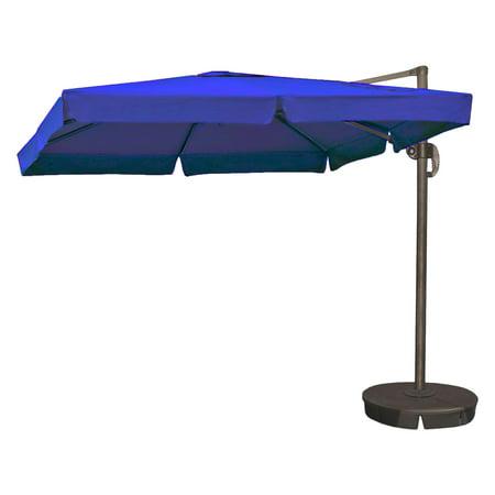 Image of Island Umbrella Santorini II 10 ft. Square Cantilever Umbrella with Valance