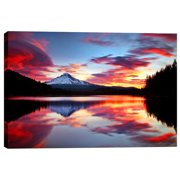 Cortesi Home 'Sunrise on the Lake' by Darren White Photographic Print on Wrapped Canvas