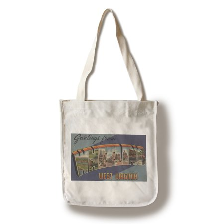 Greetings From Wheeling  West Virginia  100  Cotton Tote Bag   Reusable
