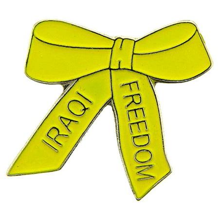 Iraqi Freedom Ribbon - Iraqi Freedom Yellow Ribbon Pin 1