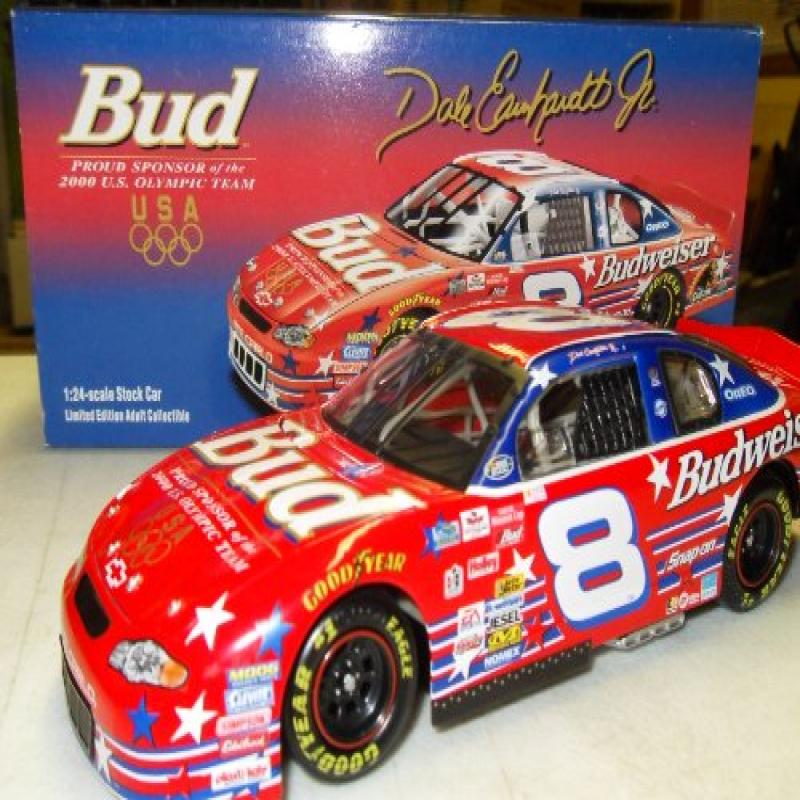 Dale Earnhardt Jr. Budweiser 2000 US Olympic Team 2000 Monte Carlo #8 Action Racing 1:24 Die-Cast Stock Car Limited Run