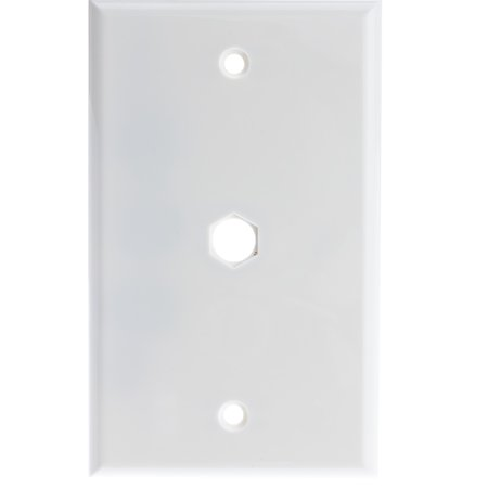 Oem Systems 1 Connector Plate (ACL 1 hole for F-pin Connector Wall Plate, White, 4 Pack )