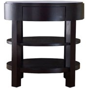 Abbyson Living Tristan Solid Hardwood End Table, Espresso