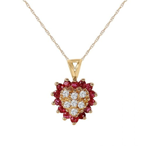 Foreli 0.45CTW Diamond And Tourmaline 14K Yellow Gold Necklace MSRP$1680.00 by Generic