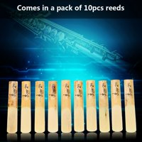 EOTVIA 10pcs Plastic 2.5 Soprano Saxophone Mouthpiece Reeds Repair Parts Repair Reed Accessory, Saxophone Accessory, Saxophone Reeds