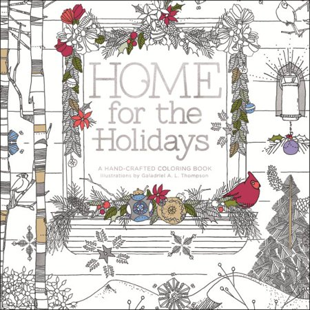 home for the holidays adult coloring book - Walmart Coloring Books
